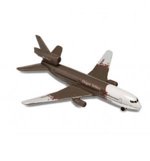 Самолет  Аэропорт бело-коричневый 13 см Majorette