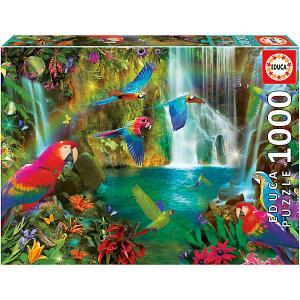 Пазл  Тропические попугаи, 1000 элементов Educa