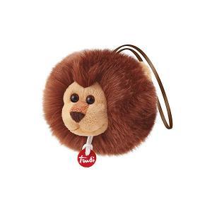 Мягкая игрушка  Лев-пушистик на веревочке, 12×10×10 см Trudi. Цвет: коричневый