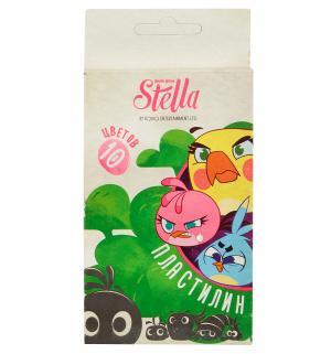 Пластилин  Stella Вy Angry Birds 10 х 100 гр Action