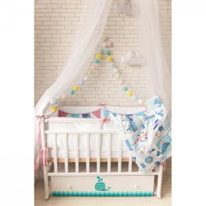 Детская кроватка  Маленький кит (поперечный маятник) ByTwinz