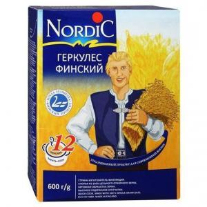 Каша  безмолочная Финский геркулес с 3 лет 600 г Nordic