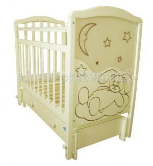 Детская кроватка  Мой малыш 12 маятник продольный Ивашка