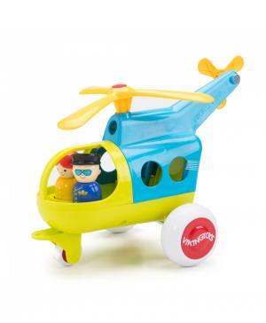 Модель вертолета с двумя фигурками и тележкой Fun Color Vikingtoys