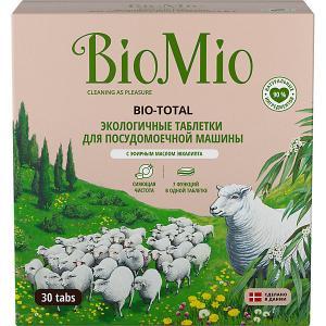Таблетки для посудомоечной машины BioMio с маслом эвкалипта, 30 шт BIO MIO