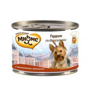 Влажный корм  для взрослых собак, террин по-версальски (телятина/вветчина), 200г Мнямс