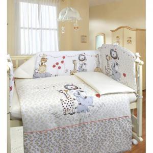Комплект в кроватку  Вечеринка маленького жирафа (6 предметов) Labeille