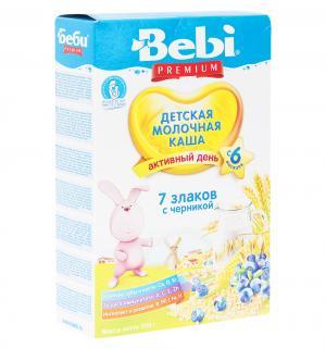 Каша  молочная 7 злаков с черникой 6 месяцев 200 г Bebi