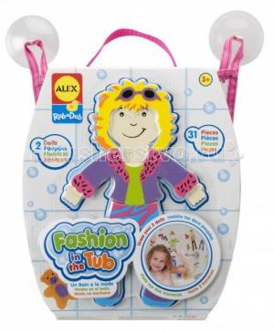 Набор фигурок-стикеров для ванны Одень куклу Alex