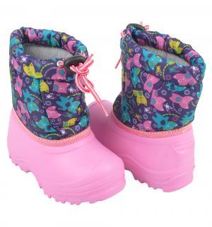 Сноубутсы , цвет: фуксия/фиолетовый Прыг-Скок