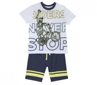 Комплект для мальчиков футболка и шорты Байк 09076314 Chicco