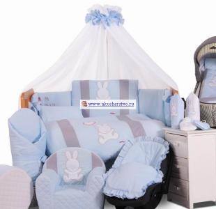 Комплект в кроватку  Rabbit (7 предметов) Tuttolina