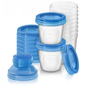 Набор контейнеров для хранения грудного молока 180 мл, 10 шт. SCF618/10 Philips Avent