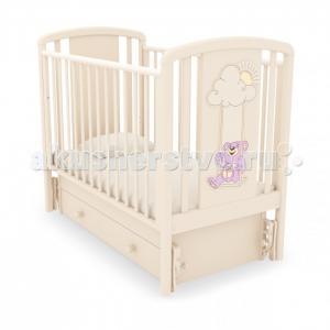 Детская кроватка  Жаклин Мишка на качелях маятник универсальный Angela Bella