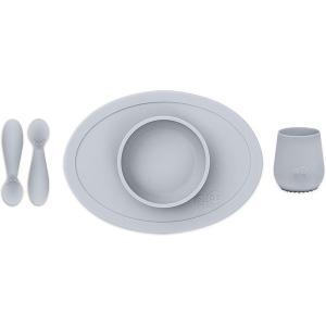 Набор посуды  First Food Set светло-серый Ezpz
