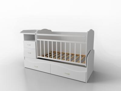 Кровать-трансформер  Allegra Comfort 2 части, цвет: белый Valle