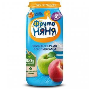 Пюре  яблоко-персик с 6 месяцев, 250 г ФрутоНяня