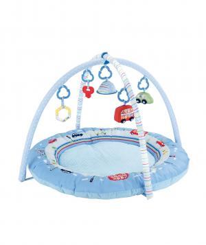 Игровой коврик  В дороге с подвесными игрушками, цвет: голубой Mothercare
