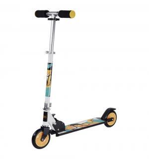 Скутер  Wow Animals, цвет: желтый/серый X-match