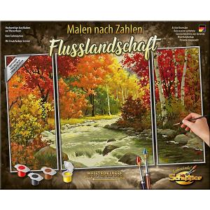 Картина по номерам  Триптих: Осенний поток, 50х80 см Schipper. Цвет: разноцветный