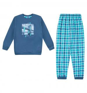 Пижама джемпер/брюки  Bridge, цвет: синий/бирюзовый Cornette