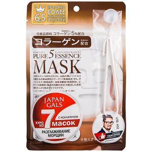 Маска для лица  Pure5 Essence с коллагеном, 7 шт Japan Gals