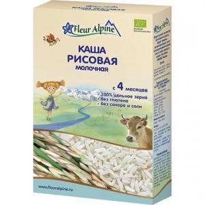 Каша  молочная Рисовая с 4 месяцев 200 г Fleur Alpine