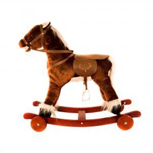 Качалка-игрушка  Лошадка, цвет: темно-коричневая Lider Kids