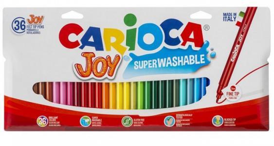 Фломастеры  Набор фломастеров Joy 36 цветов в картонной коробке с европодвесом Carioca