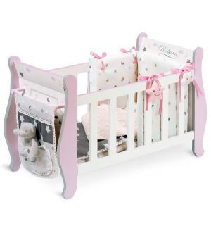 Кроватка для кукол  Скай с аксессуарами 63 см DeCuevas