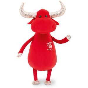 Мягкая игрушка  Бык Счастья, 30 см Orange. Цвет: красный