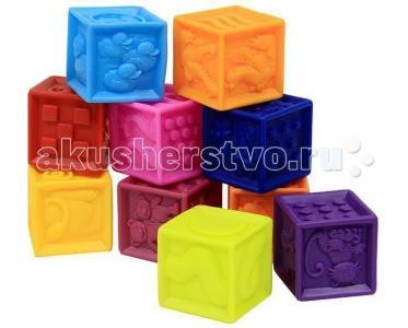 Развивающая игрушка  B.Dot Мягкие кубики One Two Squeeze Battat