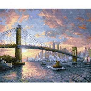 Картина по номерам Рассвет над Нью-Йорком 40х50 см Molly