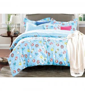 Комплект постельного белья  Игрушки, цвет: голубой 3 предмета Cleo