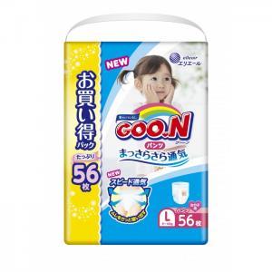 Подгузники-трусики L (9-14 кг) для девочки 56 шт. GooN