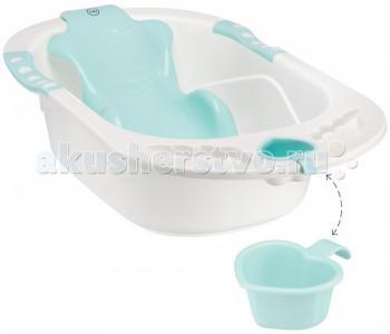 Детская ванна с анатомической горкой Bath Comfort Happy Baby