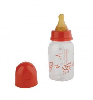 Бутылочка  полипропилен, 125 мл, цвет: красный Курносики