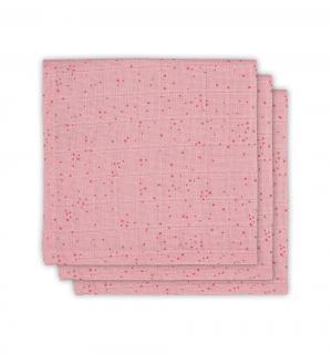 Комплект полотенце 3 шт , цвет: розовый Jollein