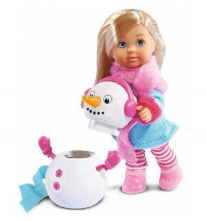 Кукла  и снеговик 12 см Evi