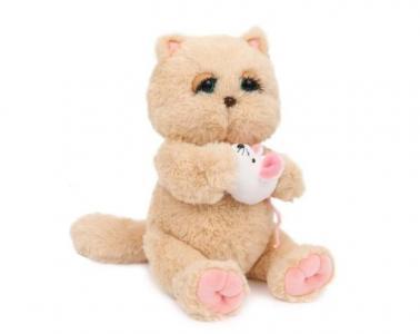 Мягкая игрушка  Киска Персик с мышкой Angel Collection