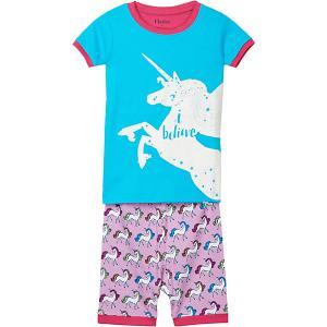 Пижама Hatley. Цвет: голубой