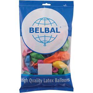 Воздушные шары Веселая затея, 50 шт, металлик Затея. Цвет: разноцветный