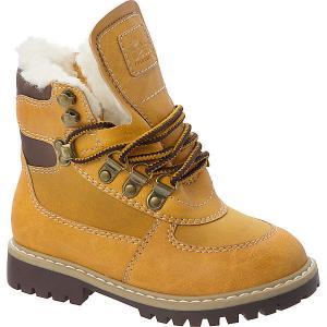 Ботинки для мальчика Tesoro. Цвет: желтый