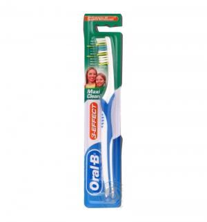 Зубная щетка  3 Effect Maxi Clean 40, полипропилен, цвет: синий Oral-B