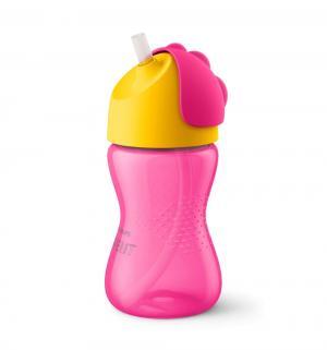 Чашка-поильник  с трубочкой, 12 месяцев, цвет: розовый Avent