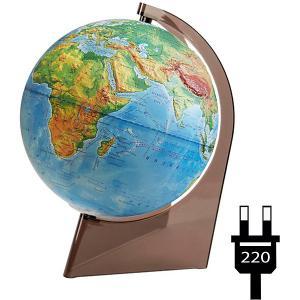 Глобус Земли физический рельефный на треугольнике с подсветкой Глобусный Мир