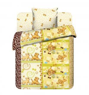 Комплект постельного белья  Принц саванны, цвет: бежевый Василек