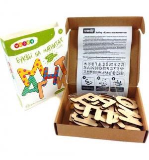 Игровой набор  Буквы на магнитах Woody