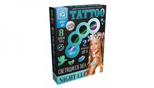 Набор для временных татуировок NIGHT СLUB светящиеся С005 Каррас