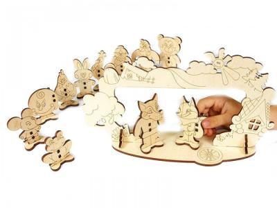 Деревянная игрушка  Набор Детский театр Woody